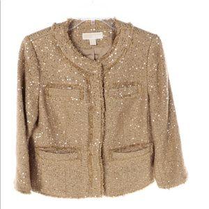 MICHAEL Michael Kors Fray Tweed Sparkle Jacket